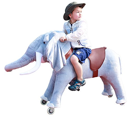 Mechanical Ride on Elephant Simulated Horse Riding on Toy Ride-on Toys without Battery or Power: More Comfortable Riding with Gallop Motion for Kids 5-12 Years by Gidygo