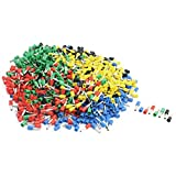 Aexit 14AWG Wire E2508 Assorted Color Pre Insulate Ferrules Terminals 950Pcs