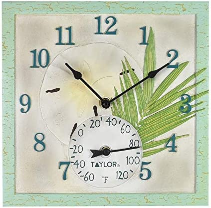 <span style=''>Springfield 12x12 Sand Dollar Poly Resin ClockTher..</span>