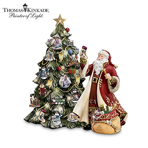 Thomas Kinkade Illuminated Advent Tabletop Christmas Tree by The Bradford Exchange
