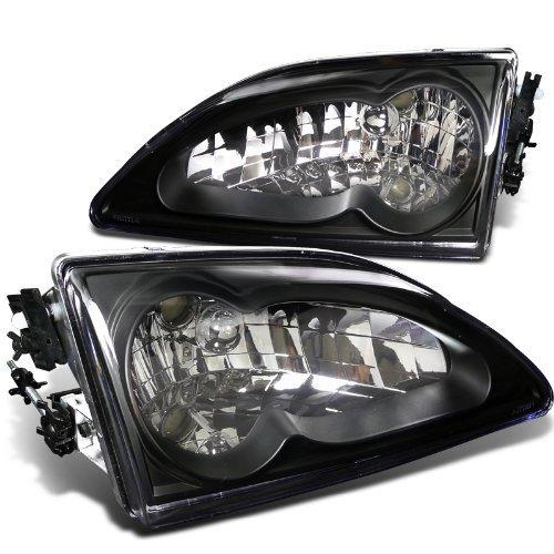 - Spec-D Tuning LH-MST94JM-RS Ford Mustang Euro Crystal Black V8 Headlights Head Lamps Pair