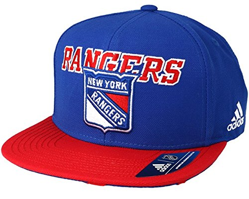 new arrival a3d78 bbe0d ... spain adidas nhl new york rangers flat brim snapback hat one size blue  03138 a8301
