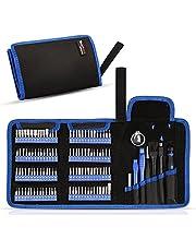 Precisionsskruvmejseluppsättning, phixilin 126-i-1 magnetisk mini-skruvmejselset gör-det-själv-reparationsverktygssats med bärbar väska för mobiltelefon, bärbar dator, klocka, datorer, elektroniska verkstäder, glasögonreparation