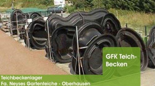 Gartenteiche Neyses gfk teichbecken steinhuder meer in schwarz amazon de baumarkt