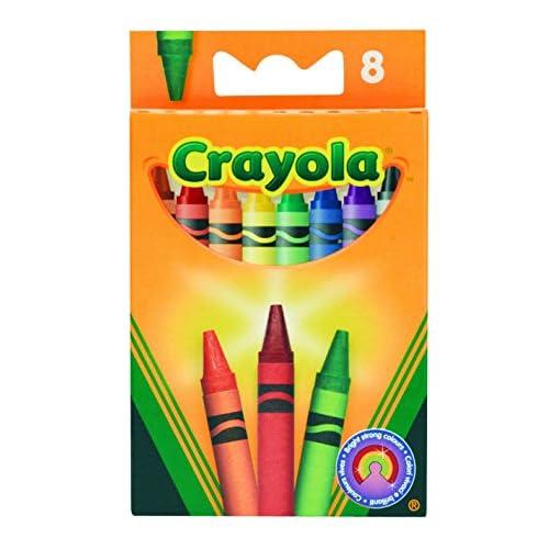 Crayola - 8 - Loisir Créatif - 8 Crayons Cire Crayola