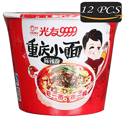 Sweet Potato Vermicelli, Sweet Potato Instant Noodle, 12Pcs Non-fried Health & Aspects Traditional Cuisine from China, GUANGYOU convenience foods, Not Delicious with The (Chinese Fried Pork)