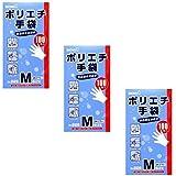【まとめ買い】826 ポリエチ手袋M 100枚入【×3個】