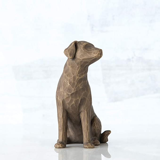 Willow Tree Love My Dog-Dark Dog Figurine Ornament 8.5cm 27683 RRP£15.00