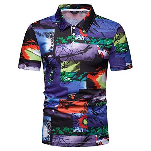 KINGOLDON Letter Printed Tops Fashion Men's Casual Slim Short Sleeve T Shirt Blouse Outdoor t Shirt Fitness t Shirt