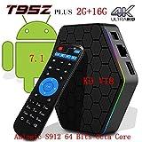 [2018 New Version] LCBOX, KD V18 T95Z Plus Android 7.1.2 Bluetooth 4.0 TV Box Amlogic S912 64 Bits Octa Core 4K /H.265 /WiFi 2.4/5GHz /2GB+16GB