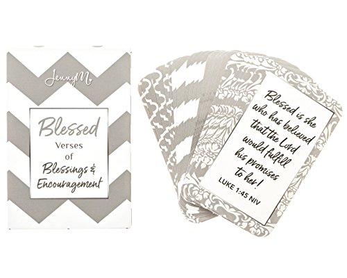 Prayer Card Postcards - JennyM | Blessed Prayer Cards, Verses of Blessings & Encouragement, Bible Verses, Inspirational Scripture Cards with Keepsake Box, Boxed Inspirational Blessing Cards, Christian Gift!