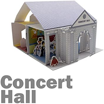 Papertoy 3d Paper House - Whats Up Showtory Concert Hall: Amazon.es: Juguetes y juegos