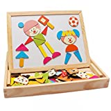 Darius Wooden Magnetic Easel Dry Erase Board Puzzles Games, Intelligent Toys for Kids