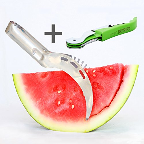 Premium Quality Watermelon Slicer Corer & Server Knife. - New Collection Italy