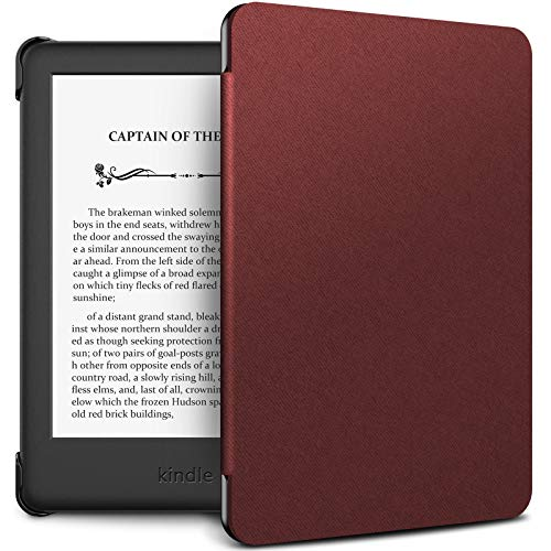 INFILAND Kindle 10th Gen 2019 Case, Shell Case Cover Auto Wake/Sleep Compatible with All-New Kindle 10th Generation 2019 Release Only, Dark Red