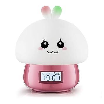 GJH Despertador Lámpara, Lindo Reloj con Pantalla Digital ...