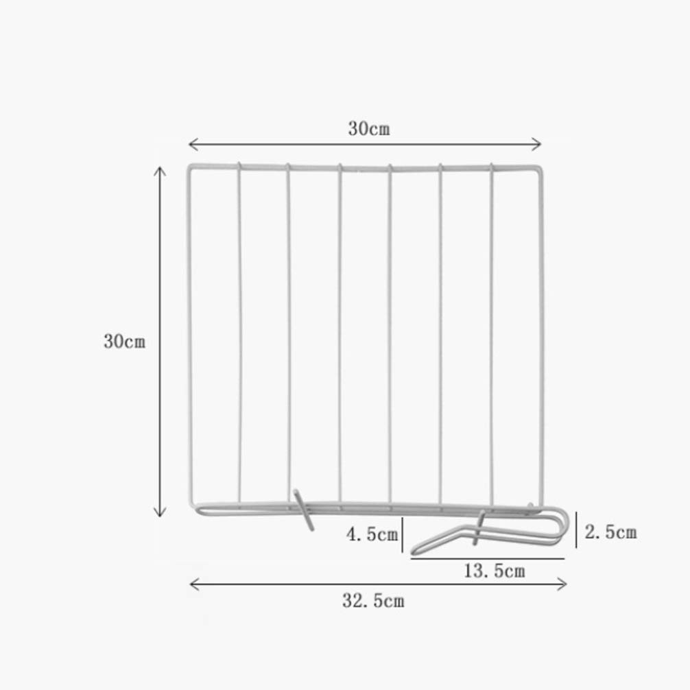 TOPBATHY 2pcs Closet Wire Shelf Dividers Vertical Iron Metal Organizer Separator Closet Wardrobe Cabinet Organizer for Home Clothing Kitchen Appliances Books White