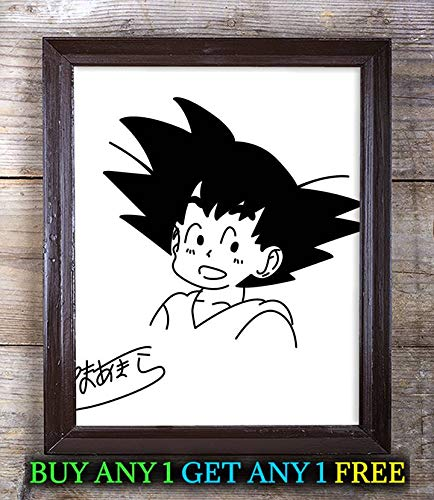 Akira Toriyama Dragon Ball Z Autographed Signed 8x10 Photo Reprint #84 Special Unique Gifts Ideas Him Her Best Friends Birthday Christmas Xmas Valentines Anniversary Fathers Mothers - Dragon Ball Valentine