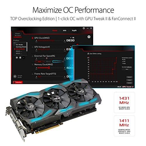 ASUS ROG-STRIX-RX580-T8G-GAMING - Tarjeta gráfica (Radeon RX 580, 8 GB, GDDR5, 256 bit, 7680 x 4320 Pixeles, PCI Express 3.0)