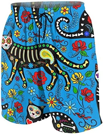 キッズ ビーチパンツ 猫柄 ねこ サーフパンツ 海パン 水着 海水パンツ ショートパンツ サーフトランクス スポーツパンツ ジュニア 半ズボン ファッション 人気 おしゃれ 子供 青少年 ボーイズ 水陸両用