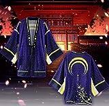 GK-O Touken Ranbu Mikazuki Munechika Cosplay Kimono Yukata Outerwear Chiffon Coat Costume (Large) Blue