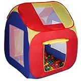 Infantastic® - KDZT01 - Carpa para niños con bolas - Incluye 200 bolas, aprox. 85 x 85 x 100 cm