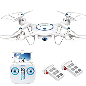 Syma X5UW Wifi FPV Drone with 720P HD Camera 2.4Ghz RC Quadcopter with Flight Route Setting and Altitude Hold Function Bonus Battery Included from Cheerwing