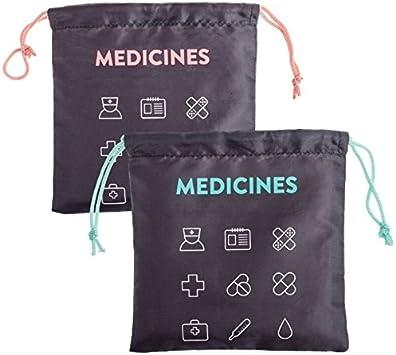 dcasa - Bolsas de viaje para medicinas 22x22 cm
