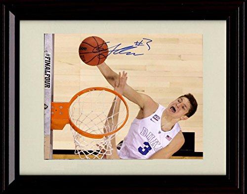 Framed Grayson Allen Autograph Replica Print - Duke Blue Devils