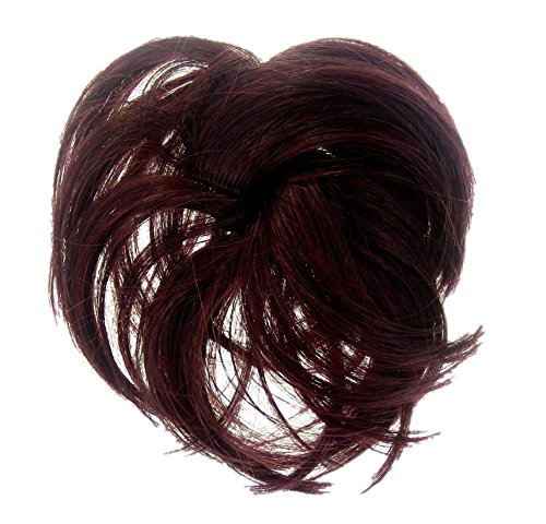 (HAIR EXTENSION SCRUNCHIE SPIKY UP DO DOWN DO PURPLE PLUM BURGUNDY RED 302/306...)