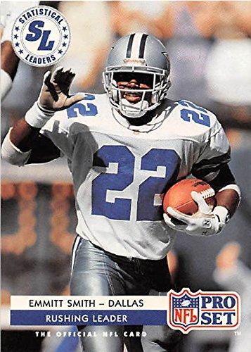 Emmitt Smith football card (Dallas Cowboys Super Bowl) 1992 Pro Set - Cowboys Dallas Super Bowl 1992