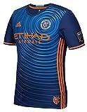 adidas Mens Gents Football New York City FC Authentic Away Shirt 2016 Jersey - M