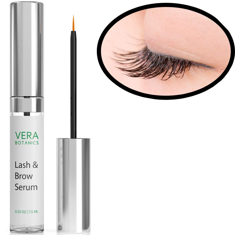Longer and Thicker Looking Eyelashes & Eyebrows! Vera Botanics Lash & Brow Serum Boosts Enhances & Conditions Giving The Lush Appearance Of Natural Eyelash Growth & Regrowth Best Selling Beats Castor