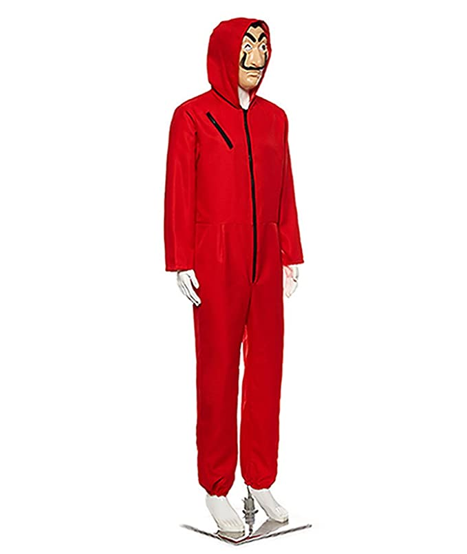 Amazon.com: Papel Casa Daly Horror Red Jumpsuits with Masks ...