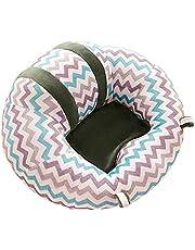 Sofá portátil con asiento de apoyo para bebés Bebé que aprende Sentado Sofá Silla Soporte del asiento del sofá colorido del modelo de la raya de la felpa del bebé recién nacido Juguetes regalo de los