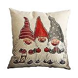 Venkaite Throw Pillow Case Christmas dwarf Cotton Blend Linen Pillow Covers Decor Cushion Covers 45*45CM 1PCS