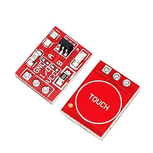 Kaifani 50PCS/LOT New TTP223 Touch Button Module Capacitor Type Single Channel Self Locking Touch Switch Sensor