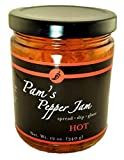 Natural Pepper Jelly - Hot- Gluten Free - 12oz Jar by Pams Pepper Jam