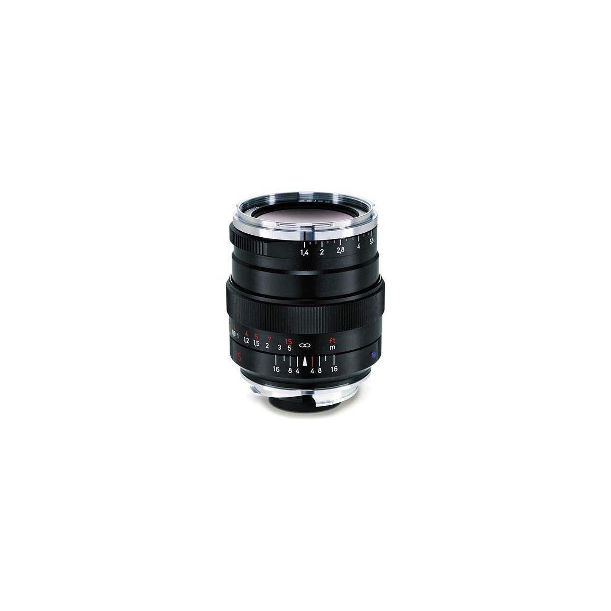 Zeiss Ikon Distagon T ZM 1.4/35 Wide-Angle Camera Lens for Leica ZM-Mount Cameras, Black, Model: 000000-2112-846
