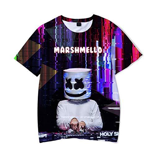 HAOSUN Marshmello Costume Tee for Music Festival Party Fashion Short Sleeve Marshmallow T-Shirts -