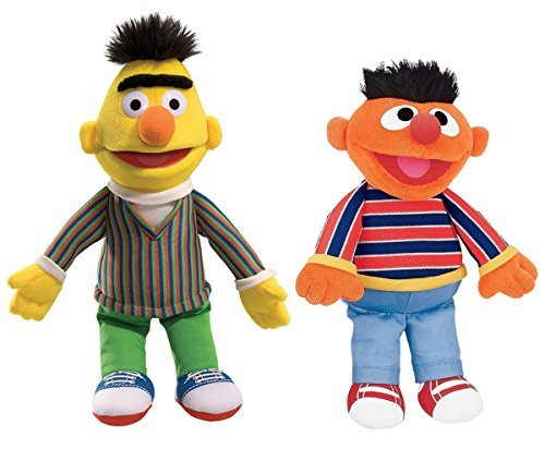 GUND Sesame Street Plush Animal Duo Pack, Bert/Ernie