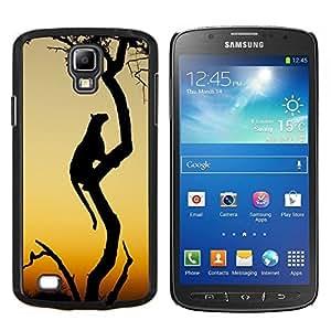 TECHCASE---Cubierta de la caja de protección para la piel dura ** Samsung Galaxy S4 Active i9295 ** --leopardo gato grande desierto Puesta del sol africana