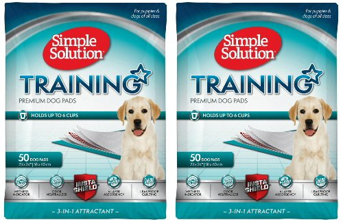 Simple Solution Original Training Pads, 50 Pads(2Pack) (Simple Solution Economy Puppy Training Pads)