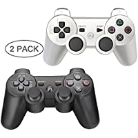 PS3 Controller 2 Pack Wireless Bluetooth 6-Axis Gamepad...