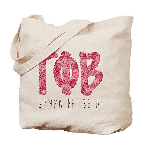 CafePress–Gamma Phi Beta letras–Gamuza de bolsa de lona bolsa, bolsa de la compra