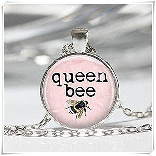 4263b0a1dc8d 80% OFF Queen Bee collar de abejorro insectos rosa colgante - www ...