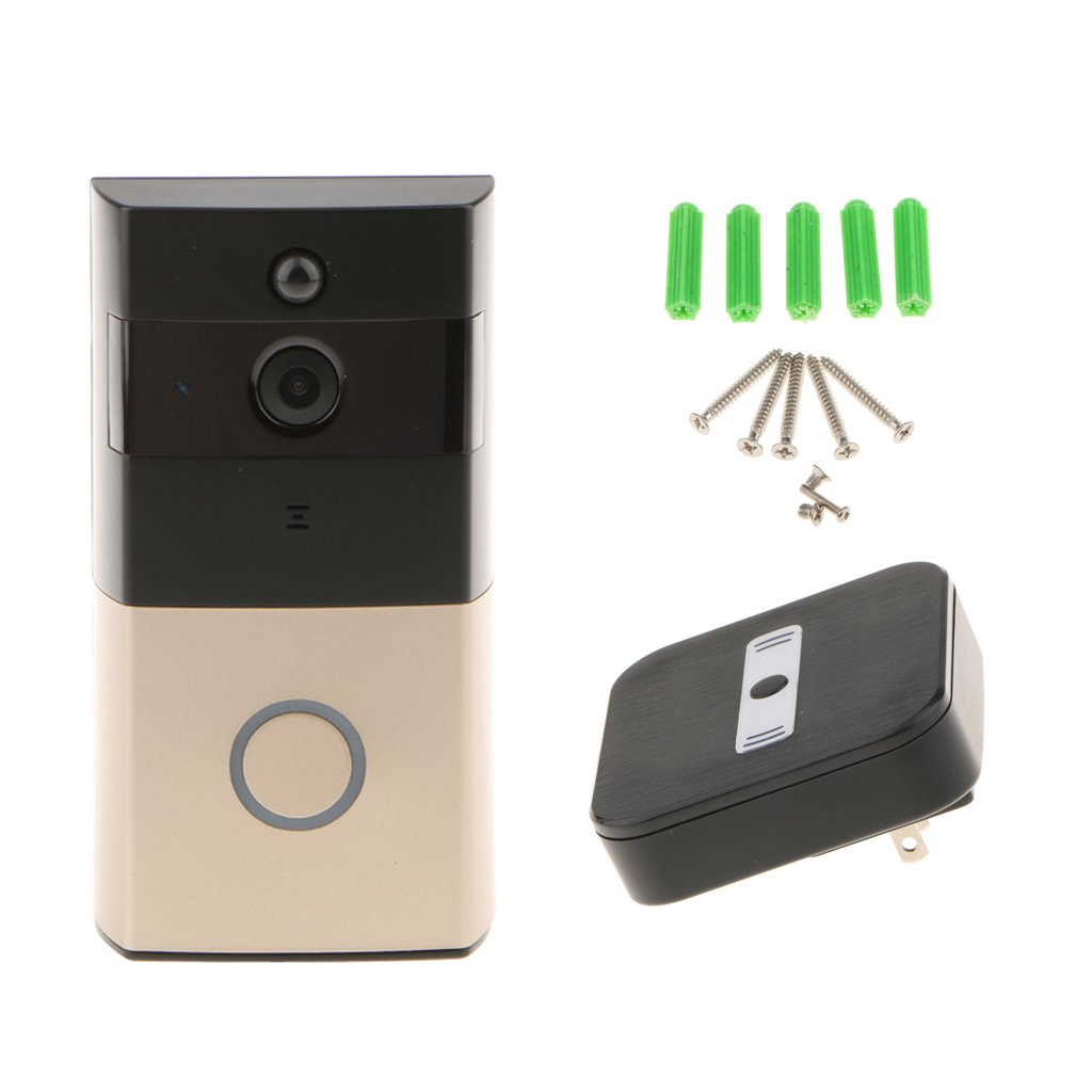 MagiDeal Wireless WiFi Doorbell,720P Camera Video,Human Body Detection,Two-Way Talk, Night Vision