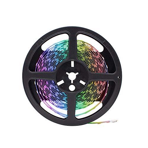 HitLights Multicolor RGB LED Light Strip, Premium High Density 5050-16.4 Feet, 150 LEDs, 12V DC. UL-Listed for Under Kitchen Bedroom Home Decoration