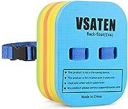 VSATEN Back Float, Swim Belt Bubble Adjustable 3 Layers Thicken Split Foam Learning Safety Training Board Pool