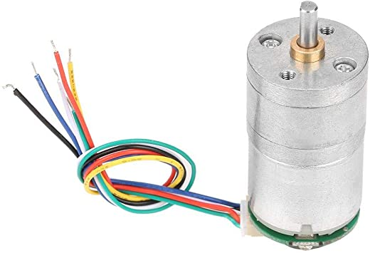 30RPM Motor de reducci/ón con engranaje helicoidal DC 12V de alto par con encoder Srong autoblocante